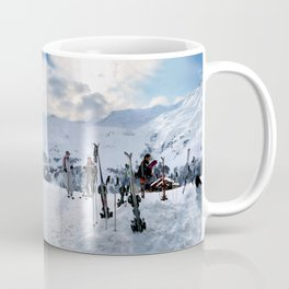 Ski Resort Mountain Landscape Coffee Mug