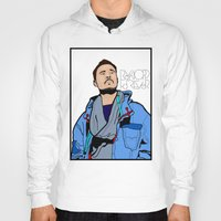 lichtenstein Hoodies featuring Röyksopp Forever Roy Lichtenstein Inspired Portrait 1 by Alli Vanes