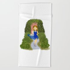 Mia Blue Dress Beach Towel
