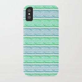 blue&green stripes iPhone Case