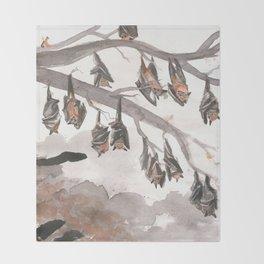 Thirteen Bats Throw Blanket