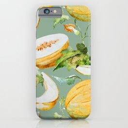 Honeydew Melon Pattern iPhone Case