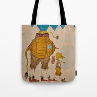 journey Tote Bags featuring Journey by Liz Hermanson