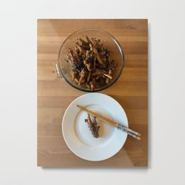 Chinese Spicy Chicken Feet Metal Print