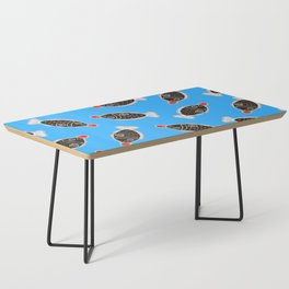 Sushi Soy Fish Pattern in Blue Coffee Table