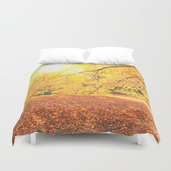 New York City Autumn Sun Duvet Cover