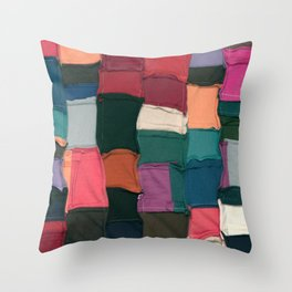 Color Smash 01 - T Collage Throw Pillow