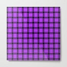 Light Violet Weave Metal Print
