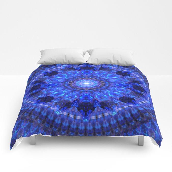 Azure Shield Mandala Comforters