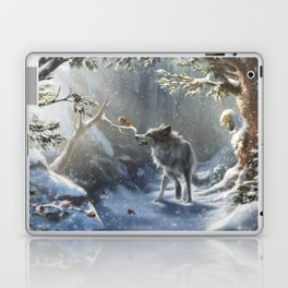 Friends: Wolf & Squirrel in Winter Laptop & iPad Skin