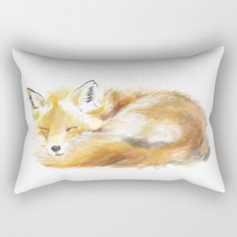Woodland Sleepy Fox Rectangular Pillow