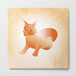 Red Little Fox (Full) Metal Print