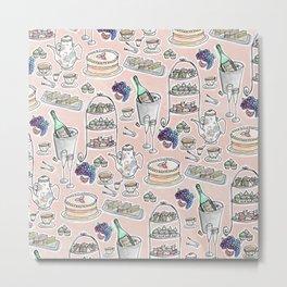 Afernoon Tea Pattern Metal Print