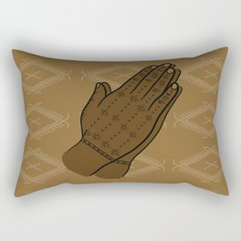 UrbanNesian Samoan Hand Tatau Rectangular Pillow
