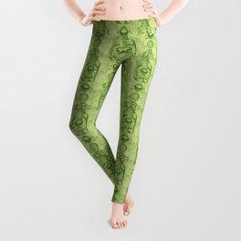 Pretty Green Poison Bottle Pattern Leggings
