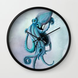 Floating octopus Wall Clock