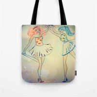 witch Tote Bags featuring witch by Elide G