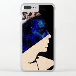 King portrait Clear iPhone Case