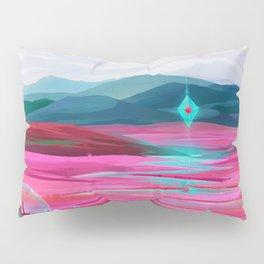 Pink fields Pillow Sham
