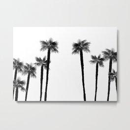 Minimal Black & White Palms #1 #tropical #decor #art #society6 Metal Print