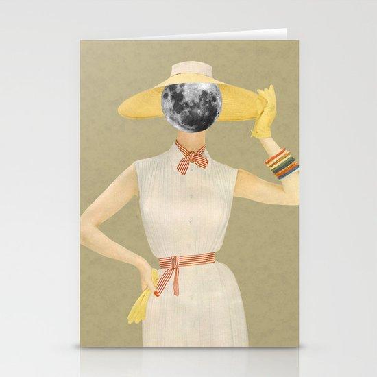 Moon Beauty Stationery Cards