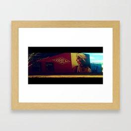 obey. Framed Art Print