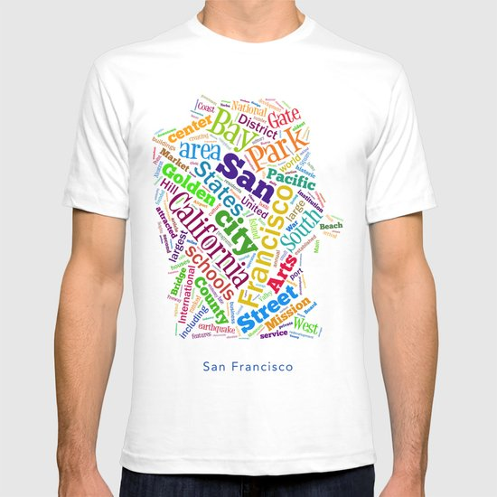 Word Cloud - San Francisco T-shirt