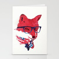 american Stationery Cards featuring American Fox by Robert Farkas