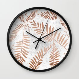 Connection of Marble Copper Wall Clock