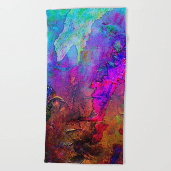 Abstract Texture 02 Beach Towel