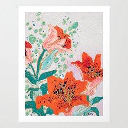 Orange Lily Kunstdrucke