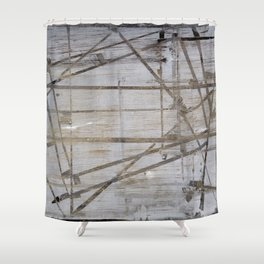 Tape Marks Shower Curtain