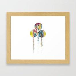 Balloons fabric Framed Art Print