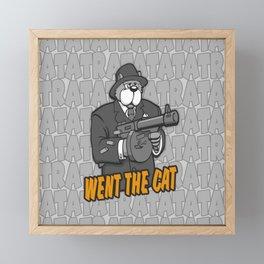 RATATATAT Went The Cat Framed Mini Art Print