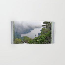 MOUNTAIN LAKE ON A MISTY DAY Hand & Bath Towel