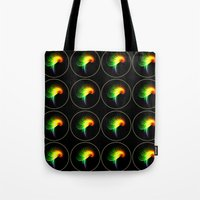 parrot Tote Bags featuring Parrot by Klara Acel