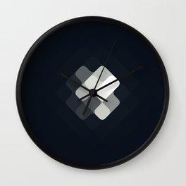 rhombus fantasy rising moon Wall Clock