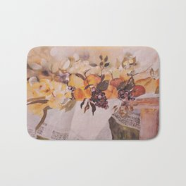 Watercolor Fruit Bath Mat