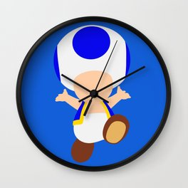 Blue Toad (Super Mario) Wall Clock