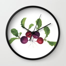 Easter Egg Radishes Wall Clock
