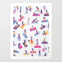 yoga Art Prints featuring Yoga by Sara Maese