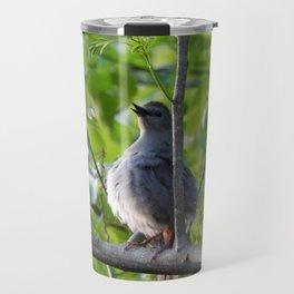 A puffy catbird Travel Mug