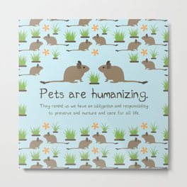 Pets are humanizing Metal Print