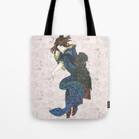 japanese Tote Bags featuring japanese by Maria Durgarian