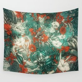 Sixth Mix Blue Wall Tapestry