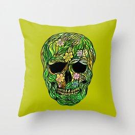 Skull Nature Throw Pillow