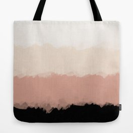 Abstract Rose Color Flora Blush Tote Bag