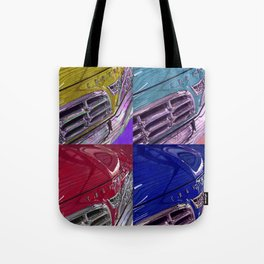 1955 Vintage Chrysler 300 Car Art Painting - Primary Colors Tote Bag