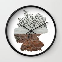 germany Wall Clocks featuring Germany by Isabel Moreno-Garcia