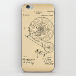 1885 Patent Bicycle iPhone Skin